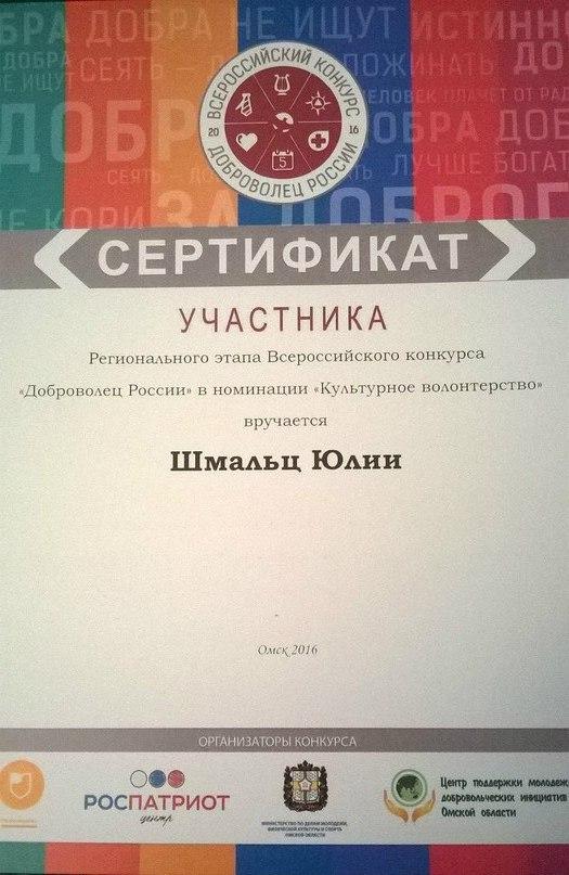 Слёт добровольцев и Всероссийский конкурс Доброволец России