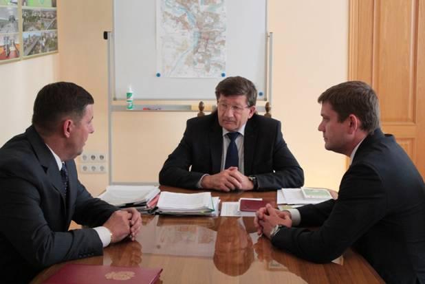 Встреча с мэром г. Омска 2014